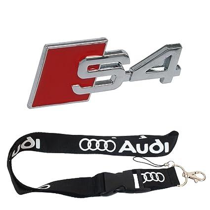 Nueva 1pcs Audi llavero Lanyard Badge Holder + S4 rojo Metal ...