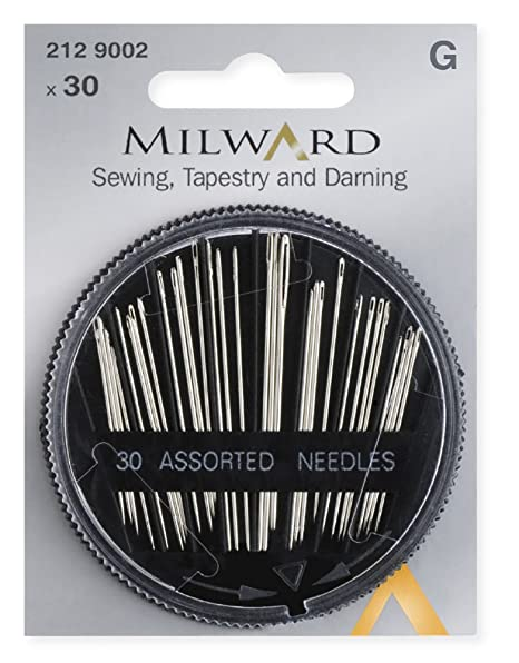 Milward Sewing 30 Pieces Tapestry /& Darning Hand Sewing Needles