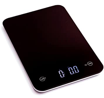 [Amazon Canada - Lightning Deal]Ozeri Touch Professional Digital Kitchen Scale (11 lb Edition), Tempered Glass in Elegant Black - 7.23