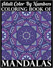 Amazon.com: Adult Color By Numbers Coloring Book of