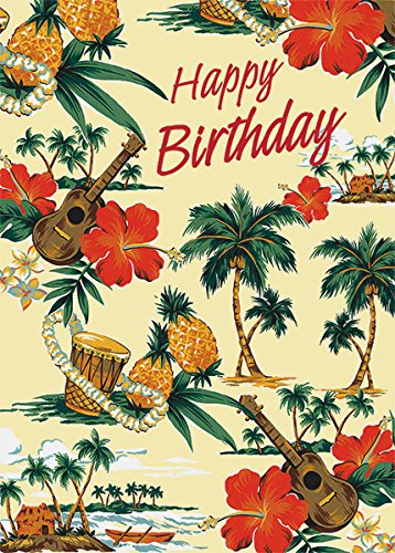 Amazon set of 12 hawaiian greeting cards holiday island scene set of 12 hawaiian greeting cards holiday island scene birthday glitter card m4hsunfo