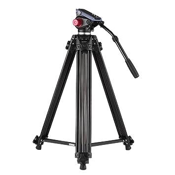 Trípode de video Andoer 180cm Trípode Profesional de cámara video de aleación de aluminio con Panorama Placa de liberación rápida fluido 360°para Canon ...