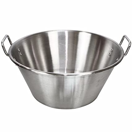 "16"" Cazo carnitas stainless steel heavy duty caso para acero Inoxidable wok fry comal pot"