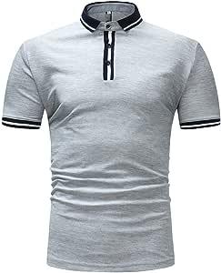 NISHISHOUZI Polo,Transpirable Camisetas Polo Manga Corta Gris ...