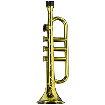 Forum Novelties Gold Trumpet Party Kazoo Play Musical Instrument: Toys & Games