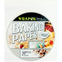 WRAPOK Air Fryer Liner 6 inch Round Perforated Parchment Bamboo Steamer Paper 50 Count Non-stick for Baking Steaming…