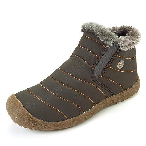 Botas de Nieve de los Hombres de Las Mujeres Zapatos de Senderismo Ligeros Calientes del Invierno