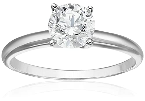 14k White Gold Diamond Solitaire Engagement Ring (1 cttw, H-I Color, I2-I3 Clarity)