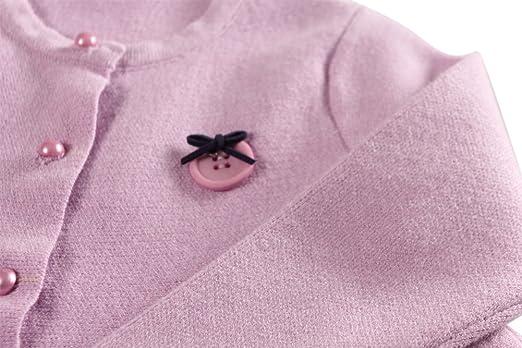 74b8537e0 Amazon.com  Coodebear Little Baby Girls  Cashmere Sweater Wide Hem ...