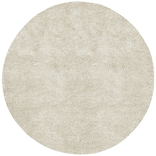 Surya Aros AROS-2 Shag Hand Woven 100% New Zealand Felted Wool Winter White 5' x 8' Area Rug