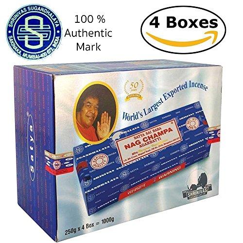 Mega Value Bundle Sai Baba Nag Champa Incense (4-Pack (1,000g))