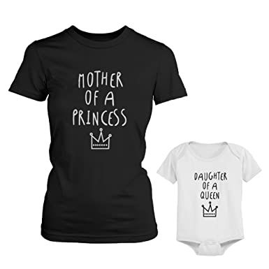 Mom and Daughter Shirts, Mom and Daughter Outfits, Daughter of a Queen, Mother of a Princess, Matching Mom Daughter Shirts