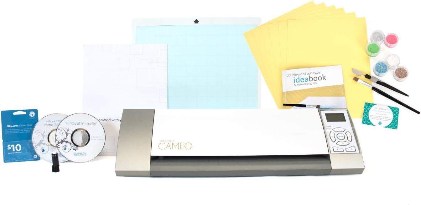 Cameo La Herramienta de Corte Silhouette Incluye un Set de iniciación de Doble Cara Adhesiva para Decorar álbumes: Amazon.es: Hogar