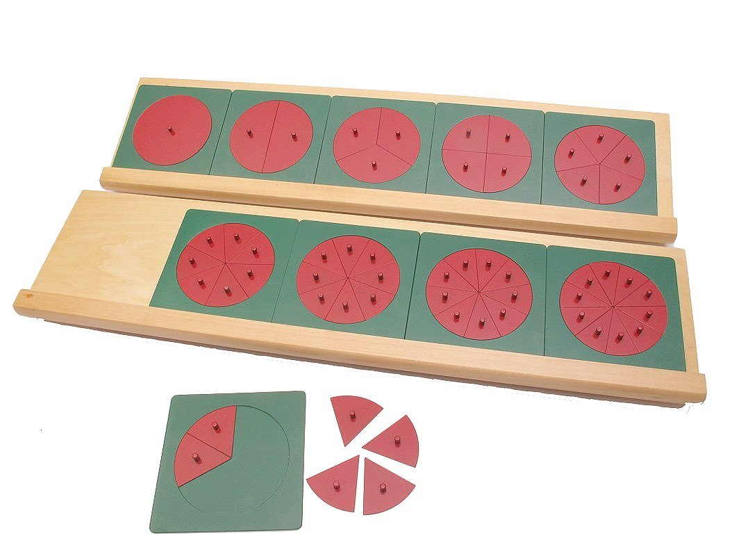 Montessori Metal Fraction Circles with Stands by PinkMontessori