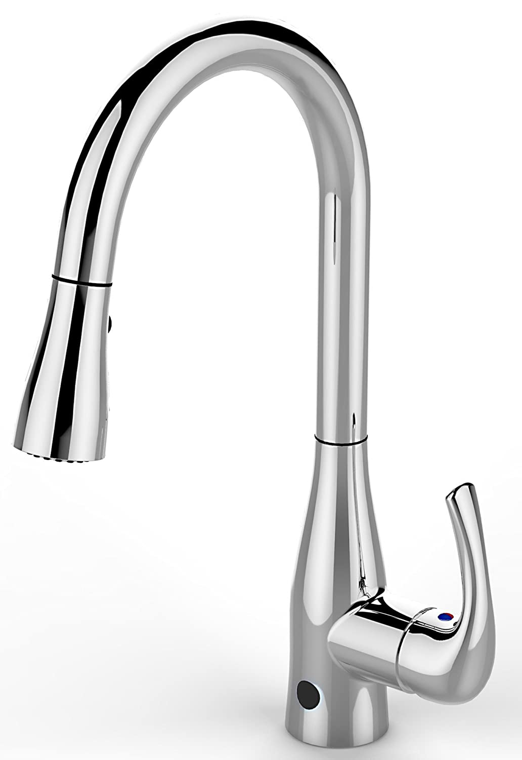 flow faucet from biobidet hands free motion sensing technology flow faucet from biobidet hands free motion sensing technology chrome kitchen faucet dual spray head offers 2 styles of water easy installation