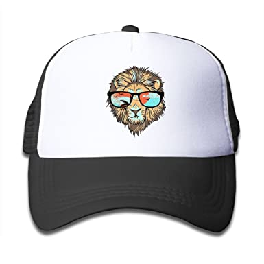 99bff95ff41a7 Image Unavailable. Image not available for. Color  ONE-HEART HR Cool Lion  With Sunglasses Kid s Baseball Cap ...