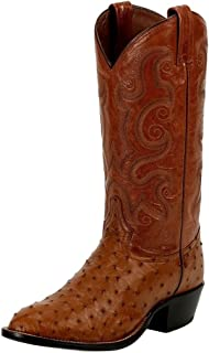 product image for Tony Lama Men's Full Quill Ostrich Cowboy Boot Round Toe