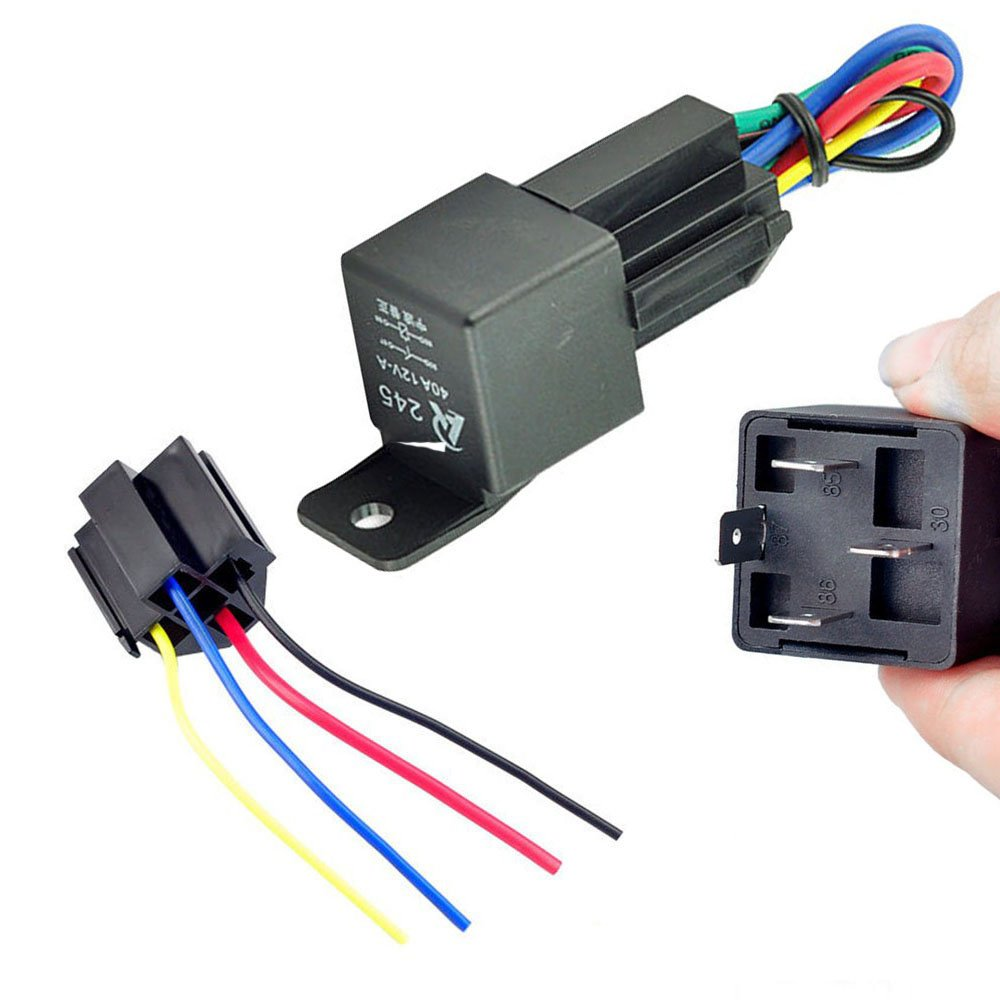 Preptec 12V 12Volt 40A Auto Automotive Relay Socket 40 Amp 4 ... on