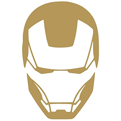 Iron Man Face Sticker For Jeep