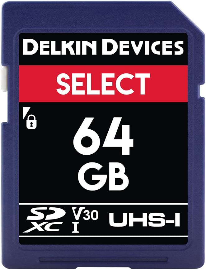 Delkin Devices 64GB Select SDXC UHS-I (V30) Memory Card (DDSDR26664GB)