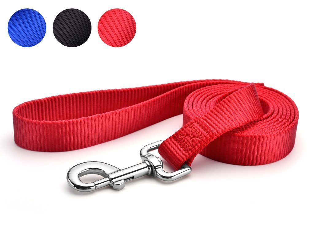 LeRich 15FT/20FT/30FT/50FT Long 3 Color Nylon Pet Dog Cat Puppy Tracking Training Obedience Lead Leash (50 Foot, Red)