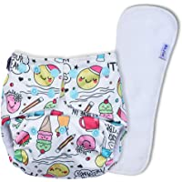 Basic by Superbottoms - Certified Soft Fleece Lined Pocket Diaper with 1 Wet Free Insert with Snaps (Doodles)