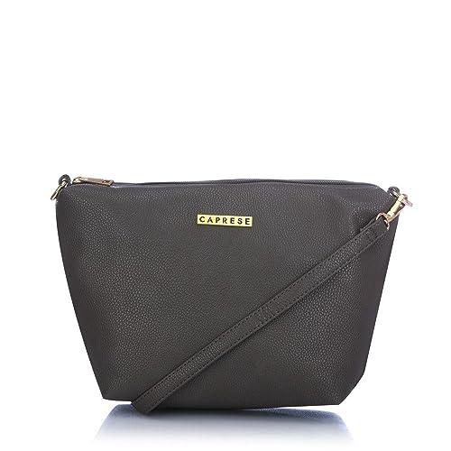 9b894ec9d Caprese Sydney Women s Sling Bag (Dark Grey)  Amazon.in  Shoes   Handbags