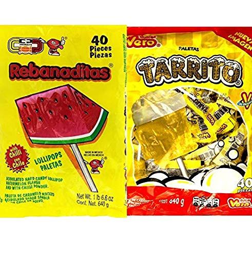 Vero Tarrito and Rebanaditas Paletas Bundle (Beer Pops Mexican Candy)