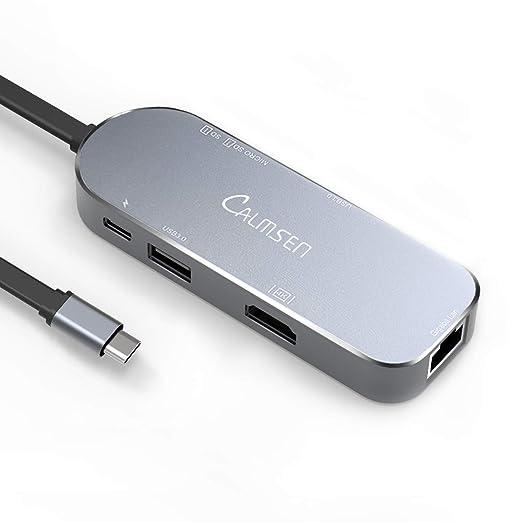 Amazon.com: USB C Hub, Calmsen 7 en 1 USB Tipo C adaptador ...