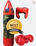 Sports Kid's Boxing Set kit By Cora,Kids boxing set (Punching Bag, Gloves & Headgear) set of 3,For both male and female
