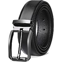 NEWHEY Cinturon Hombre Cuero Cinturones Piel Jeans Cinturón Hombre 32mm Trabajo Clásico 115cm 125cm Negro Marron Rojo…