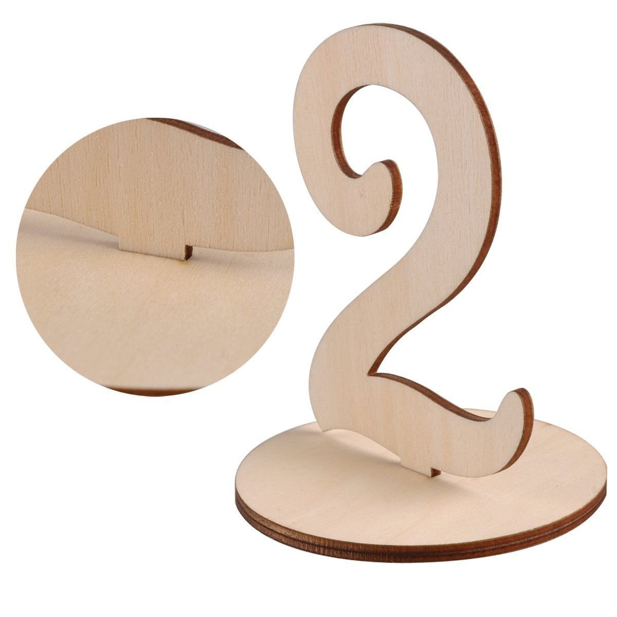 1-20 Wooden Wedding Table Stands for Anniversary Birthday Graduation Party Decoration, Paintable by Elehere (Image #5)