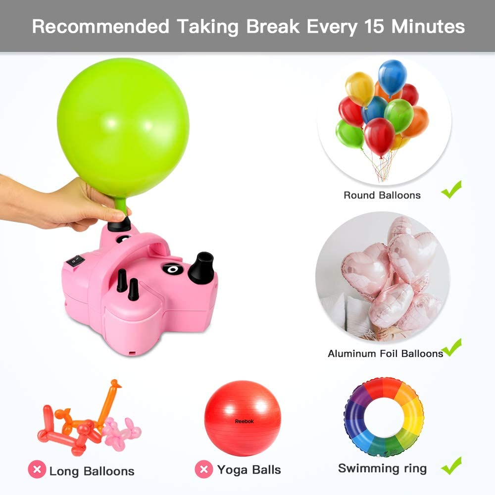 Wedding Awroutdoor Electric Balloon Air Pump,600W Multifunctional Air Pump,Effective Inflate Deflate Pump Use for Inflatable Beds Festival Decoration Birthday,Vacuum Storage Bag
