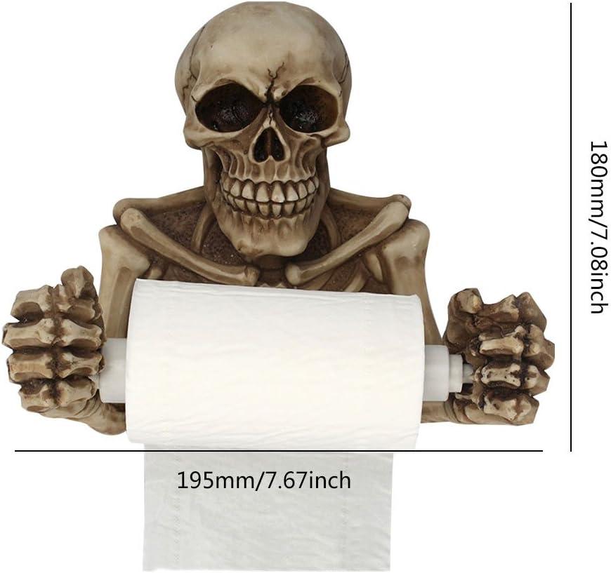 Porta carta igienica teschio Umiwe WC montaggio a parete porta rotolo di carta igienica con supporto per carta igienica