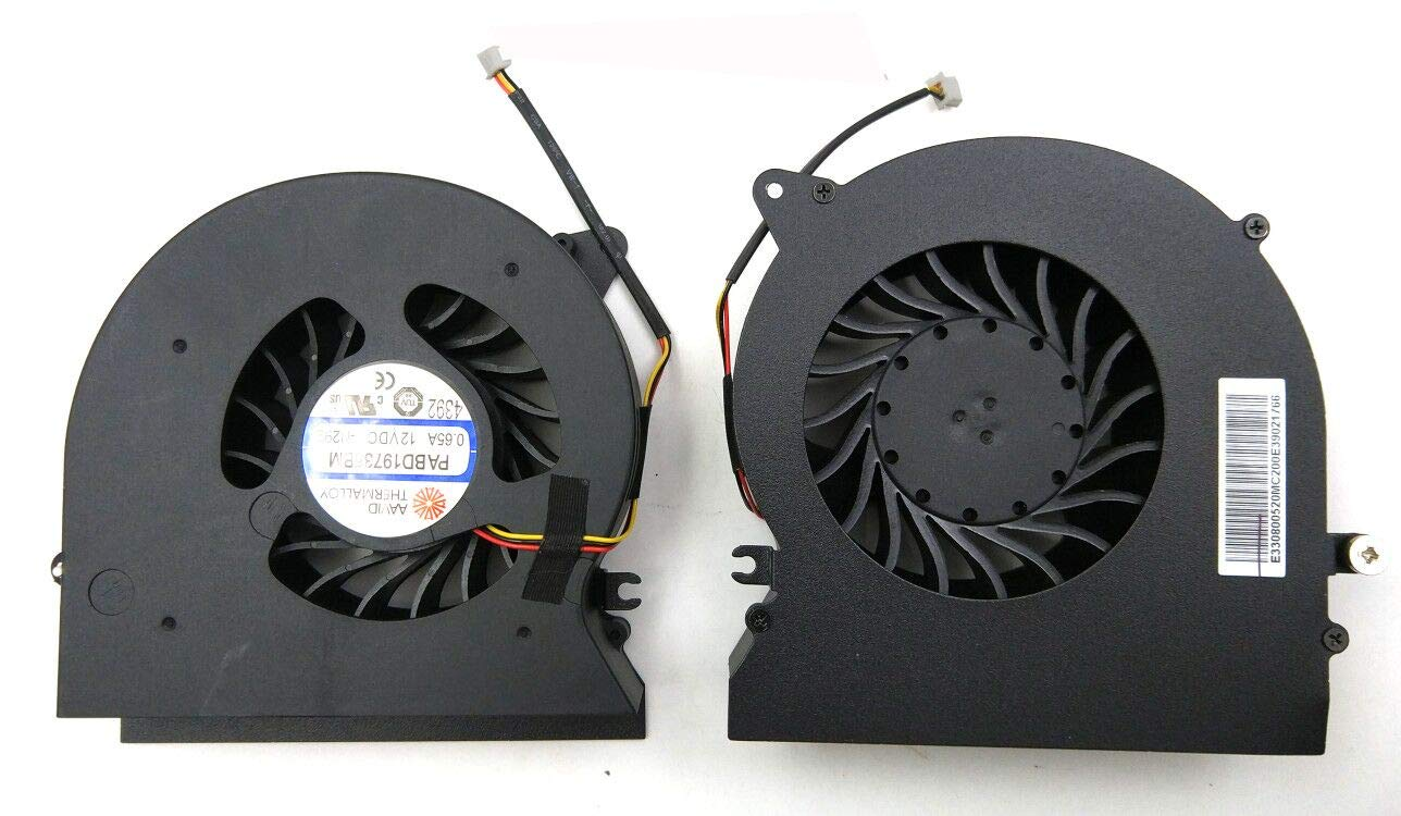Replacement CPU & GPU Fan for MSI GT72 GT72S GT72VR MS-1781 MS-1782 PABD19735BM