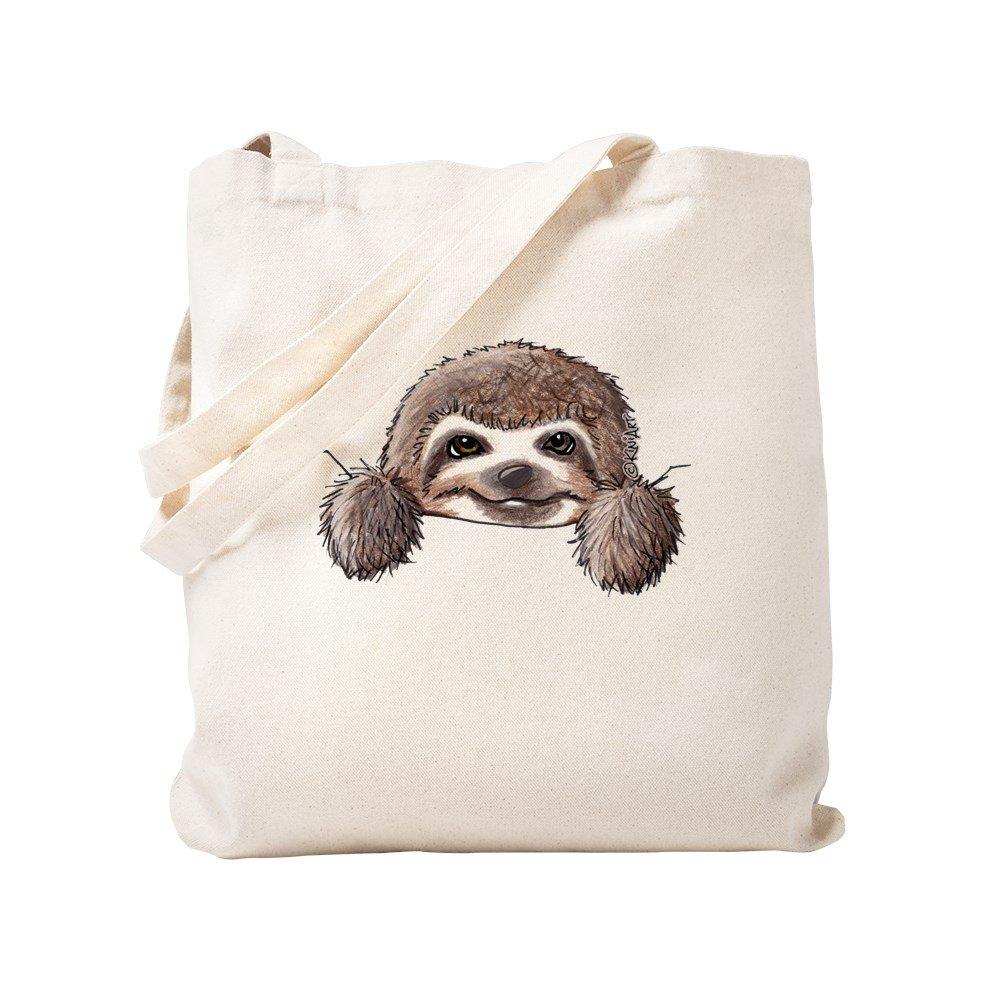 CafePress – KiniArtポケットSloth – ナチュラルキャンバストートバッグ、布ショッピングバッグ S ベージュ 1557640966DECC2 B0773SSYMS S