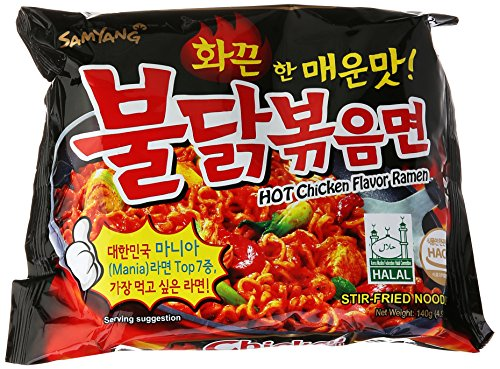 Samyang Ramen / Spicy Chicken Roasted Noodles 140g(Pack of 5) (Instant Ramen)