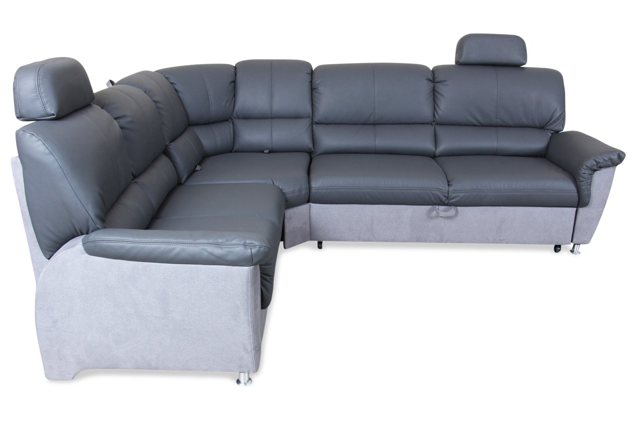 sofa matex rundecke ibiza mit schlaffunktion grau kunstleder webstoff grau online kaufen. Black Bedroom Furniture Sets. Home Design Ideas