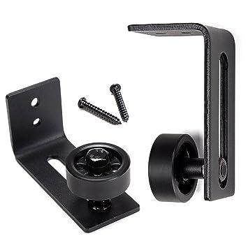 Guía de rodillo para puerta corredera con parte inferior negra para puerta corredera, herramientas de