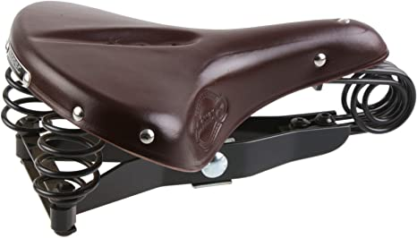 Lepper Drieveer 90 Kern Leder Sattel Fahrrad Retro Vintage Komfort ...