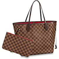 Women's Classic Canvas Never-full Top-Handle Tote Bag Large Capacity Haute Couture Shoulder Bag