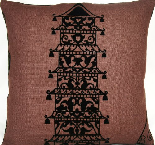 Vase Pillow Throw Case Brown Cushion Cover Lorca Collection Ming 16