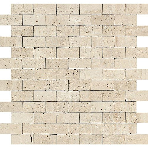 Light 1 X 2 Split Face Travertine Mosaic ()
