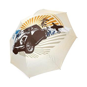 294a0e73a37 Customized Unique Volkswagen Beetle Tattoo Folding Rain Umbrella Parasol Sun  Umbrella  Amazon.co.uk  Sports   Outdoors