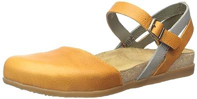 El Naturalista Women's NF41 Zumaia Flat Sandal, Carrot Mixed, 36 EU/6 M