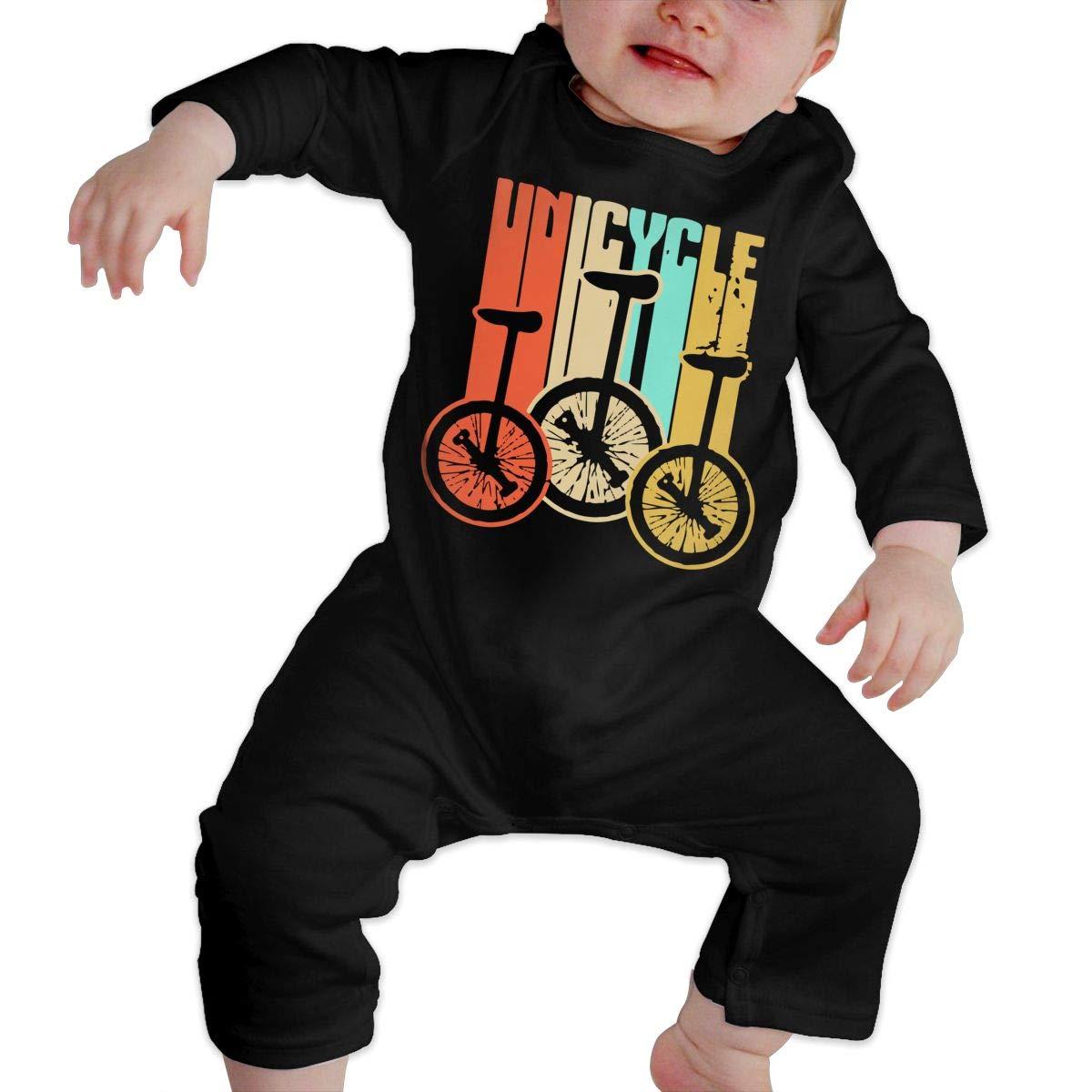 Unicycle Vintage Retro Baby Boy Long Sleeve Bodysuit Baby Clothes