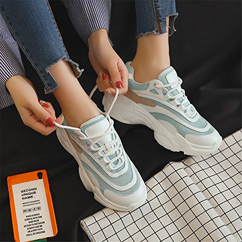 de para de Zapatos Damas Mujer Citas Transpirables Harajuku nuevos Moda con Segundo Pequeños de Compras Malla Zapatos Sneakers Zapatos IR para de OOqnxZwvT