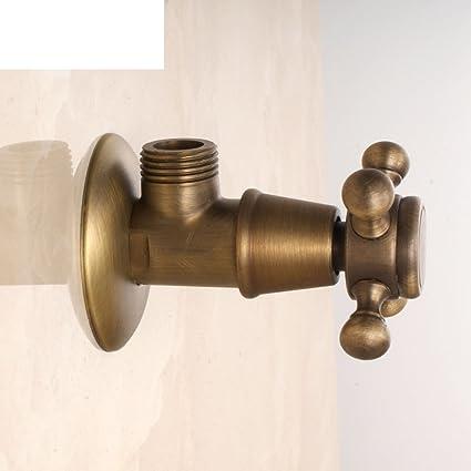 Completo cobre antiguo tallado/válvula de ángulo caliente y fría/aseo Continental Triángulo de