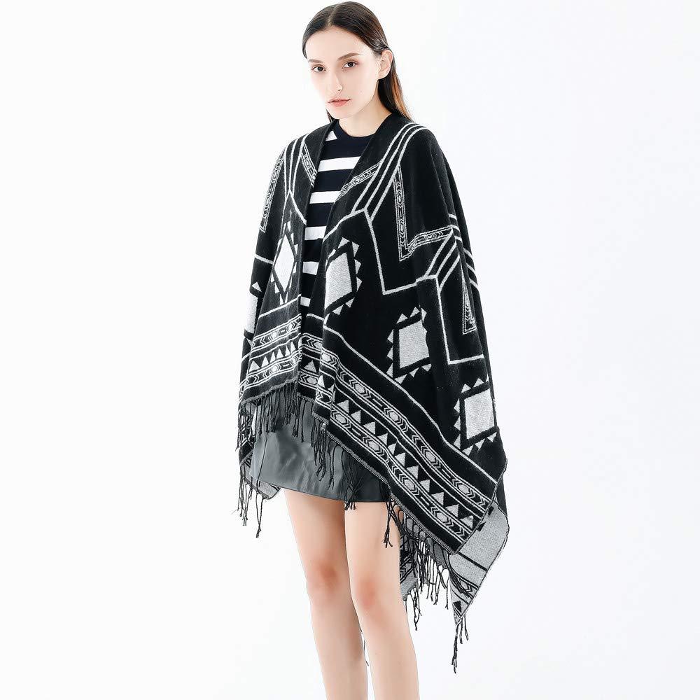 BHYDRY Moda Mujer Manta Enrejado patrón Abrigo Abrigo Abrigo Acogedor: Amazon.es: Ropa y accesorios