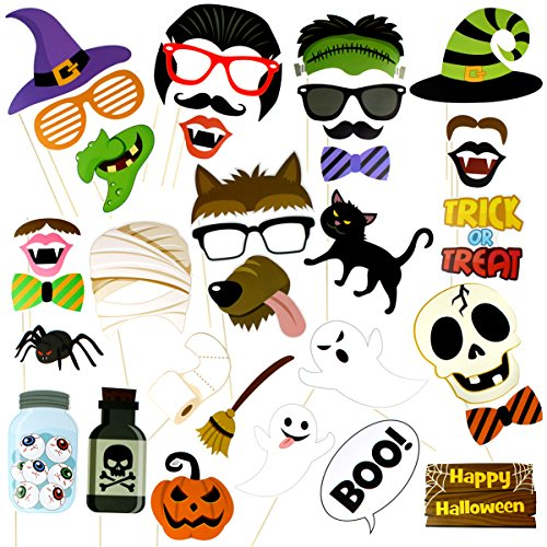 Halloween Masks, Halloween Props Photo, Cool Funny Booth Props Kit Ideas for Kids, Events, Party (Funny Halloween Photos)